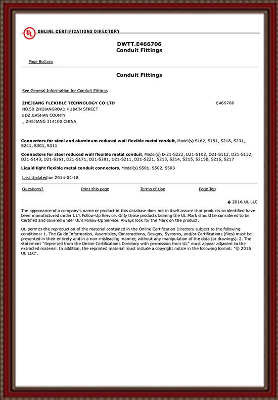UL Certificat