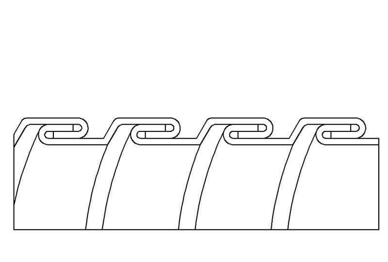 Tuyau flexible métallique en protection électrique à faible risque d'incendie - PES23X Series