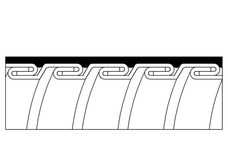 Tuyau flexible métallique de protection électrique Applications imperméables - PEG23LSZH Series