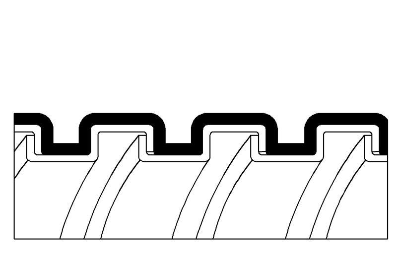 Tuyau flexible métallique de protection électrique-Application imperméable- PAG13PVC Series