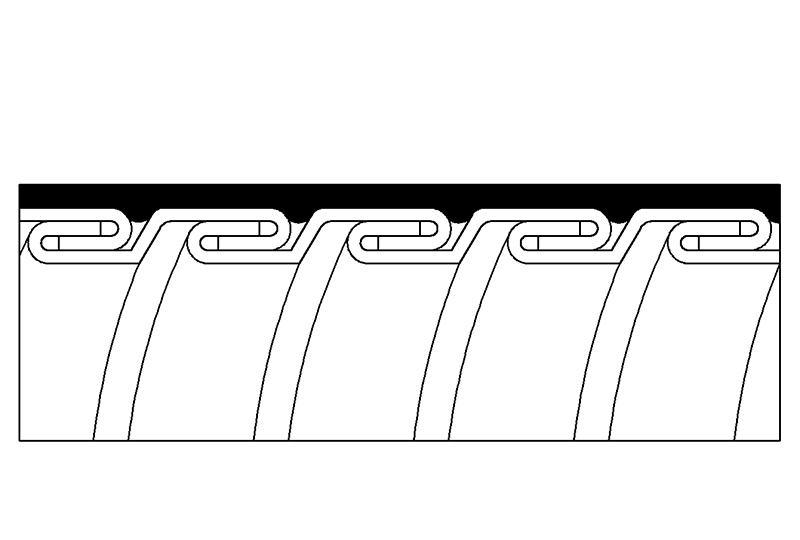 Tuyau flexible métallique de protection électrique-Application imperméable- PAG23PU Series