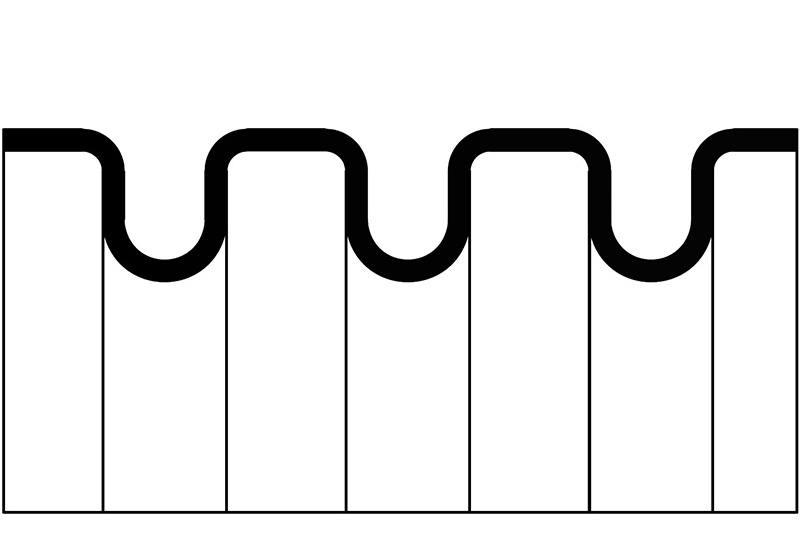 Tuyau ondulé en plastique - série PAFS0