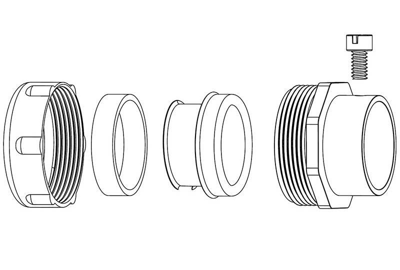 Unión de manguera flexible metálica impermeable hermética a los líquidos - - S52 Series(UL 514B)