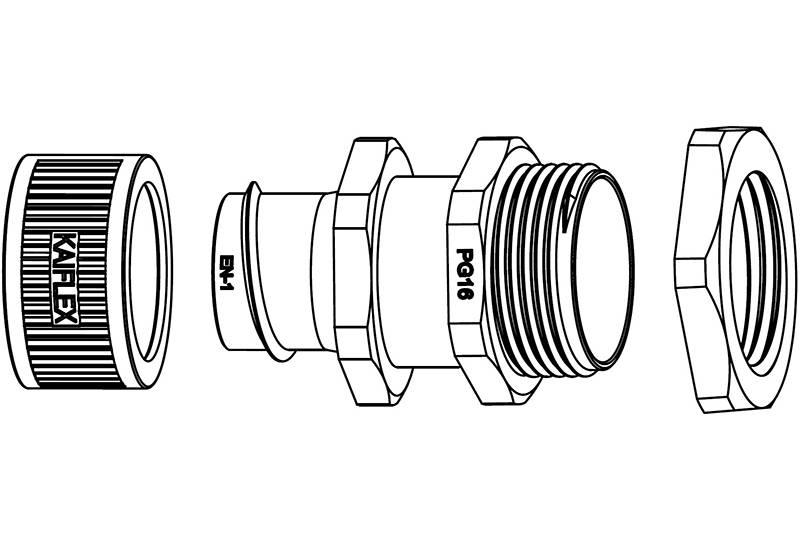 Raccord du tuyau flexible métallique Protection électrique Applications anti-électromagnétiques - BEZ05 Series (EU)
