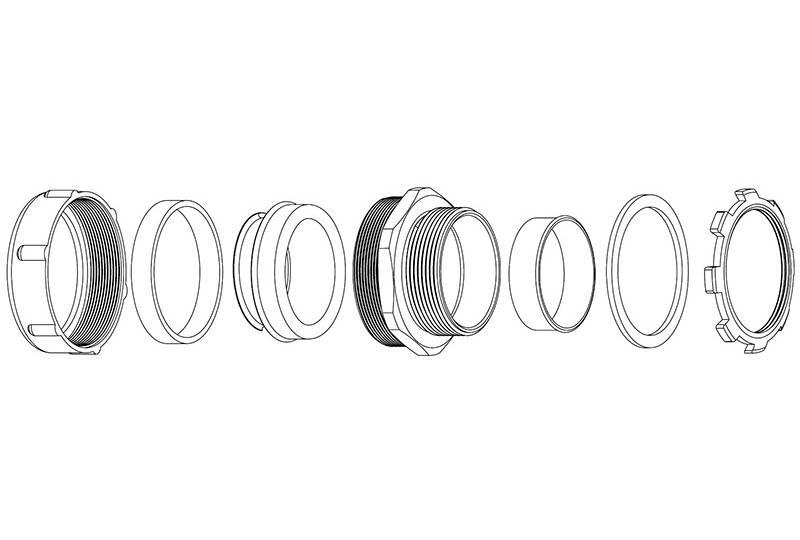 Raccord du tuyau flexible métallique Protection électrique  - XS50 Series(EU)