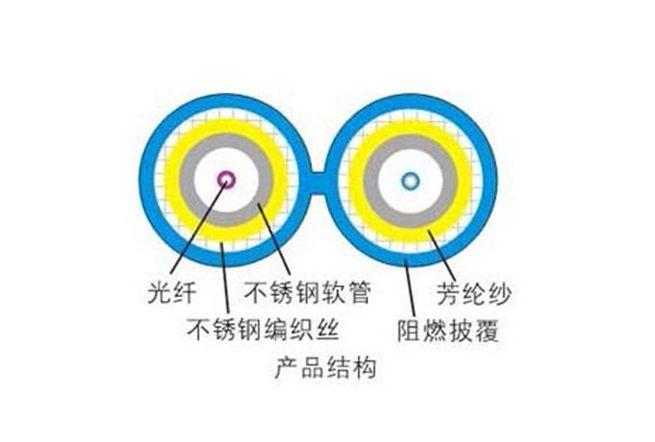 Câble optique blindé en 8 glyph