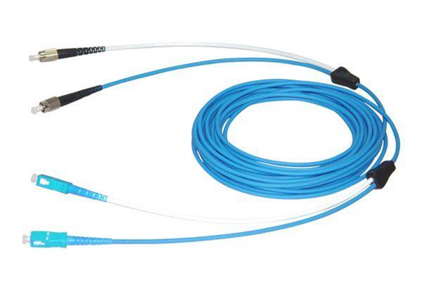 Cable puente blindado de doble núcleo / fibra de cola / fibra puente