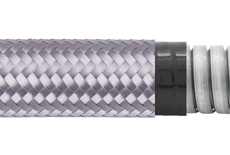Tuyau flexible métallique de protection électrique-Applications imperméables et anti-électromagnétiques- PAG23PVCTB Series