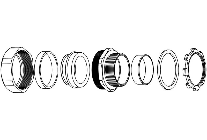 Raccord du tuyau flexible métallique à protection électrique Application de faible risque d'incendie- BGS50 Series
