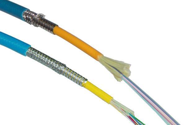 Câble optique blindé de la mine