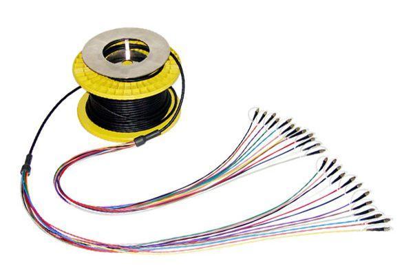 Cable puente blindado de múltiples núcleos / fibra de cola / fibra puente